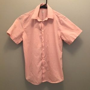 🐟Salmon Colored Collared Youth Button Down